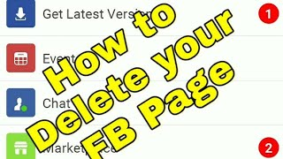 How to delete Facebook Pages in FB Lite screenshot 1