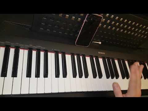 Breathe by Ariana Grande Tutorial piano intro