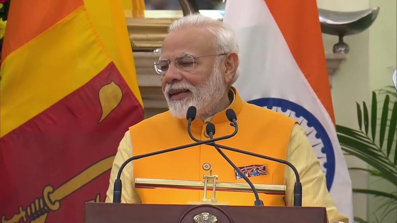 Narendra Modi –  Mahinda Rajapaksa joint address in New Delhi