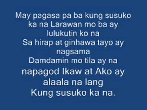 Pagsuko By Jireh Lim (Lyrics)