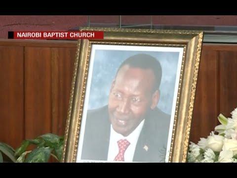 Joseph Nkaisserry's memorial service  at Nairobi Baptist Church