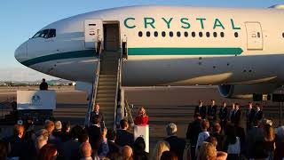 Crystal AirCruises | Crystal Skye Christening Ceremony