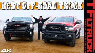 Ram Power Wagon vs GMC Sierra HD AT4: You'll Be Surprised Which One Has Better Off-Road Specs!