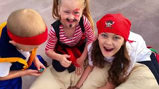 Children Found Toy Pirate Treasures Video for kids from Eva Surprise