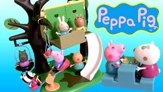 Peppa Pig Muddy Puddle Treehouse With Slide Playground See Saw Play Doh Nickelodeon Casa Del árbol