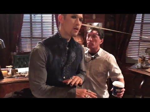 Harry Shum Jr. dancing on set Shadowhunters Season 3