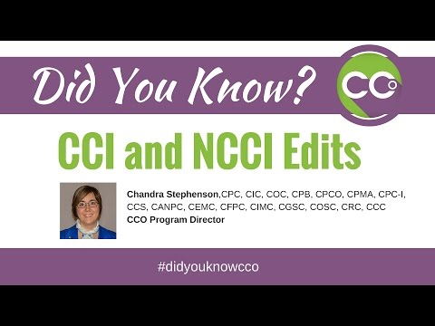 What are CCI and NCCI Edits?