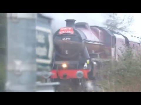 LMS Jubilee 45699 Galatea  passing Boston Lincs 9 April 2016