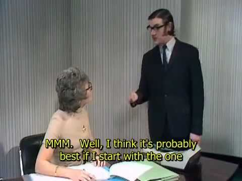 Argument Clinic - John Cleese and Michael Palin - Monty Python - English Close Captioning