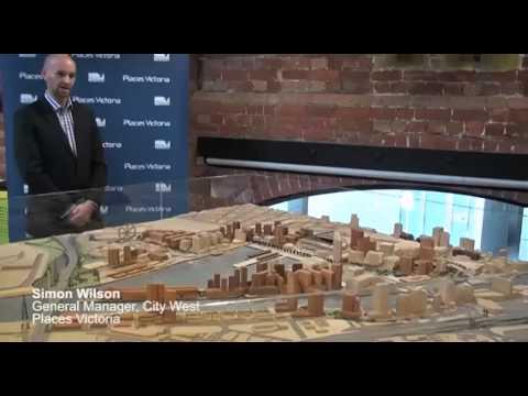 Overview of Docklands development, Melbourne, Australia