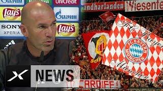 """Zinedine Zidane vor FC Bayern: """"Brauchen ein großes Spiel""""   Real Madrid - FC Bayern München"""