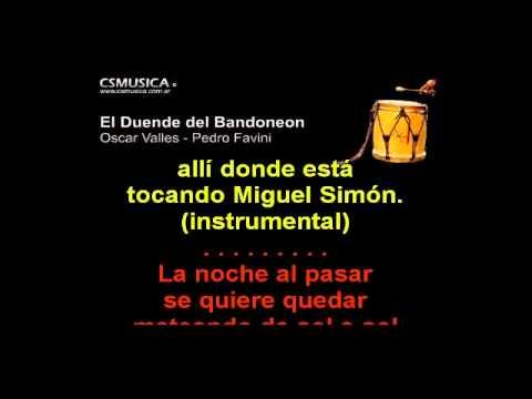Folklore   El Duende Del Bandoneon   Karaoke