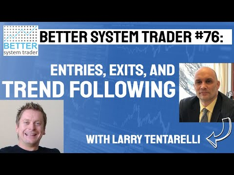 076: Entries, Exits and Trend Following with LarryTentarelli