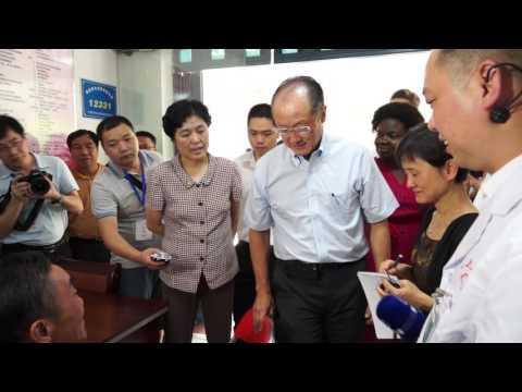 World Bank Group President Jim Yong Kim Visits Fujian to See China's Healthcare Reform