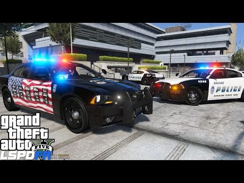 GTA 5 LSPDFR Police Mod 211 | Dallas Police Department Patrol | In Memory Of The 5 Officers Killed