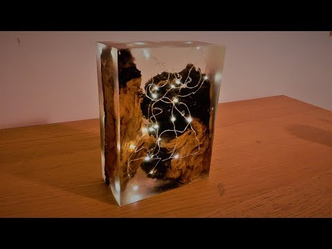 Epoxy Resin LED Lamp - Resin Art