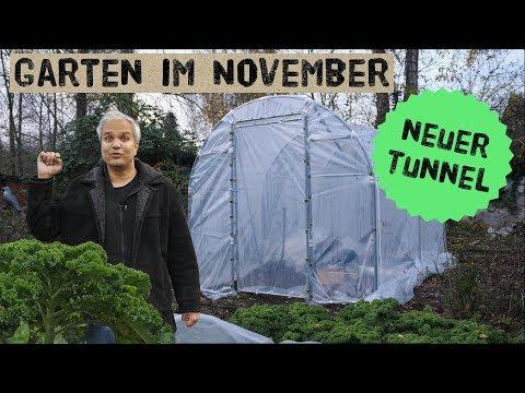 Garten im November, Gartenpläne 2020 und NEUER Mini Profi Folientunnel