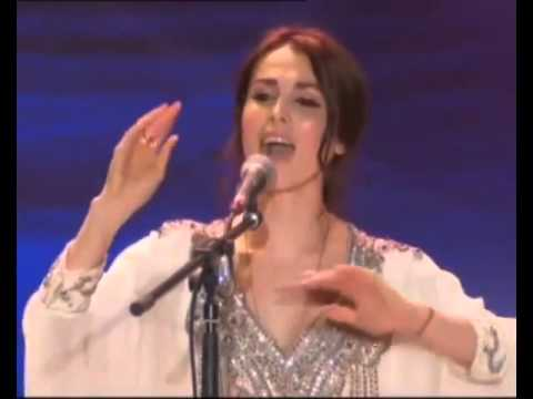 Russian singer singing and chanting Vedic