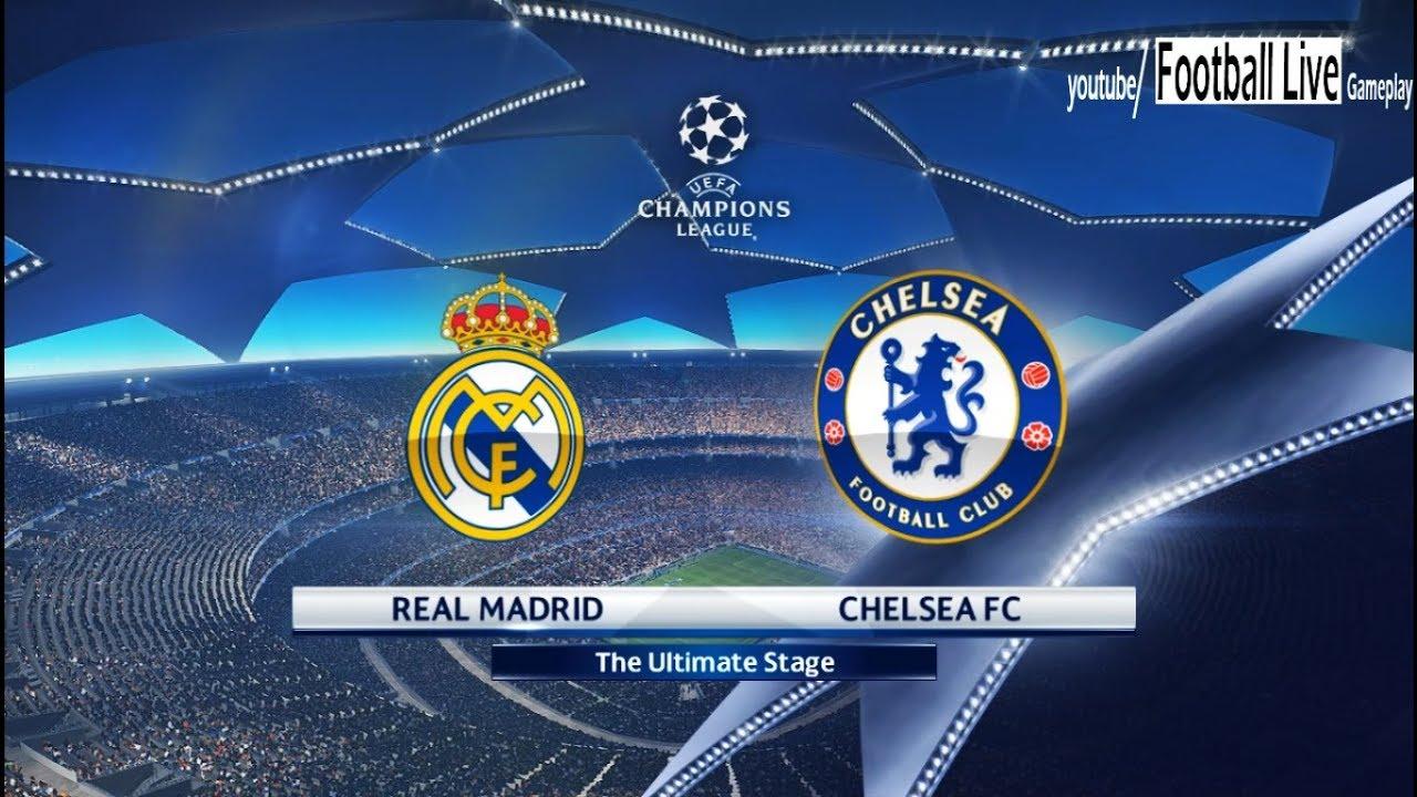 PES 2018 | Real Madrid vs Chelsea FC | UEFA Champions ...