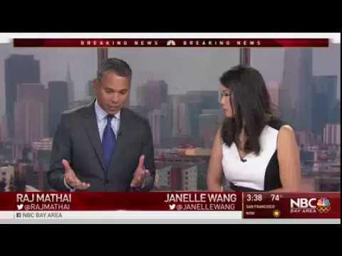 Kathryn Hall called into NBC Bay Area to talk to Anchor Raj Mathai
