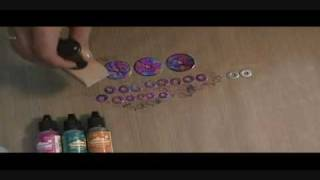 Alcohol Inked Washers.wmv