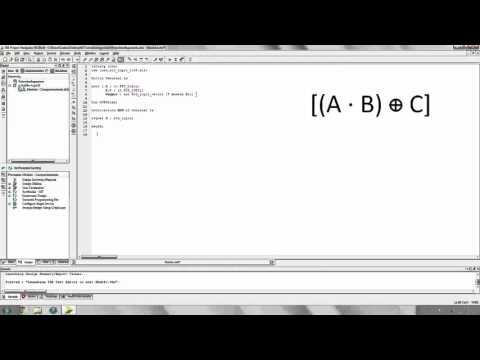 2. Electrónica Digital: VHDL Operaciones lógicas