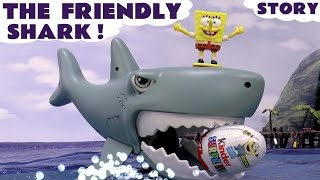 shark with surprise eggs peppa pig toys thomas and friends spongebob minions disney frozen