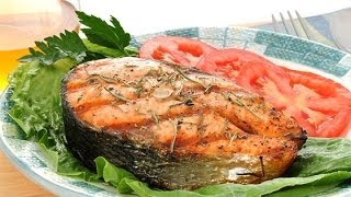 Готовим с Тинкой-Стейк с лосося под сыром