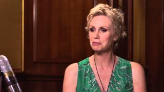jane lynch talks about co star cory monteiths return to rehab larry king now ora tv