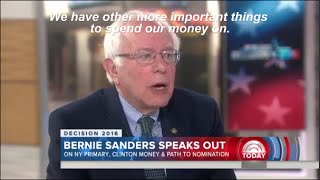 Bernie Sanders says 'NO' to $1 trillion nuclear arsenal on Today Show