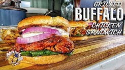 Grilled Buffalo Chicken Sandwich with Blue Cheese Sauce