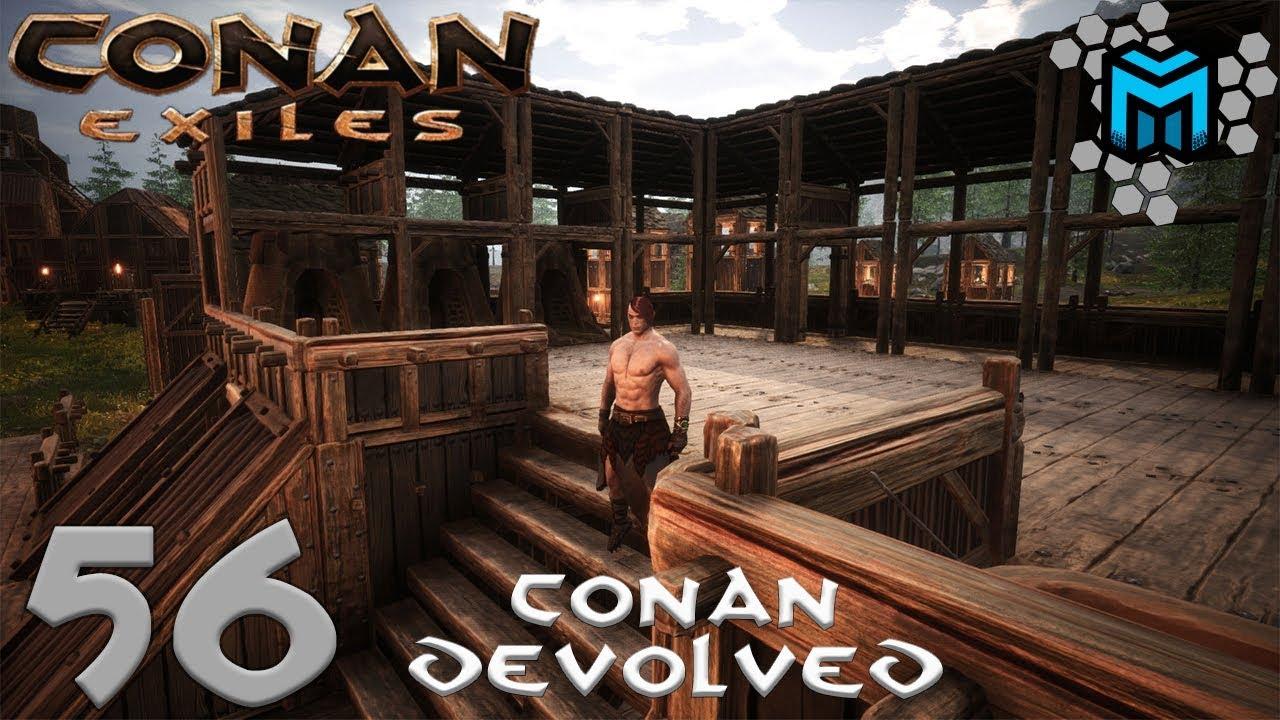 Starting The Market Awning Tutorial Ep56 Conan Exiles Conan