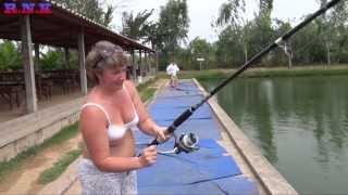 Рыбалка в Тайланде рыба КОТ 8шт за 1час 30мин.