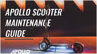 Apollo Scooter Maintenance Guİde I How to Maintain Electric Scooter