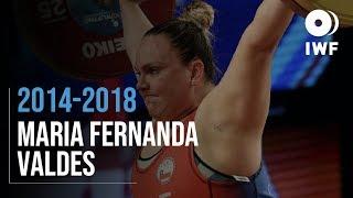 María Fernanda Valdés | 2014 - 2018 Snatch Progression