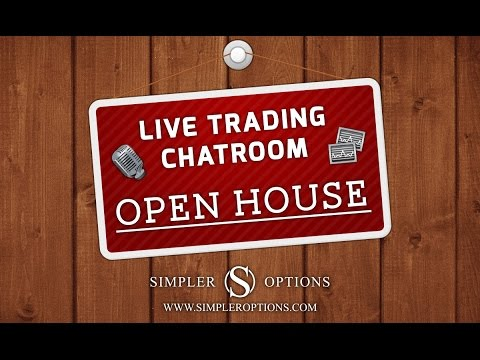 Simpler Options Live Trading Chat Room Open House Day 1