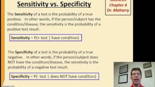 Video Math1313 chapter 4 sensitivity & specificity download MP3, 3GP, MP4, WEBM, AVI, FLV November 2017