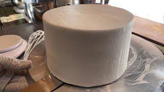 브라이덜샤워 티아라 왕관 케이크 만들기 수제 고구마 페이스트 / Making Crown cake with s…