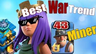 43 Madenci Saldırı İle TH12 Kraliçe Yürü!|Kitle Madenci Saldırı Stratejisi|COC|Online Oyunlar|