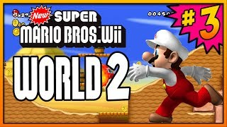 New Super Mario Bros Wii 100% Walkthrough Part 3 - World 2 (2-1, 2-2, 2-3 & 2-Tower) All Star Coins