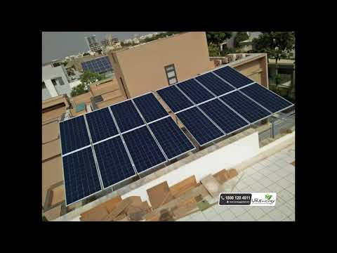 5.76 Residential Rooftop Solar Panel Project at Ahmedabad Gujarat India - U R Energy
