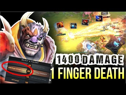 NEW CANCER! - 1400 Finger Damage Epic Talent +300 Finger Damage by Waga | Dota 2