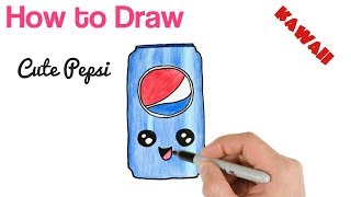 easy kawaii drawings draw drawing pepsi step doodles cool steps