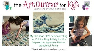 Printmaking Activity for Kids Inspired by Japanese Ukiyo-e Woodblock Prints