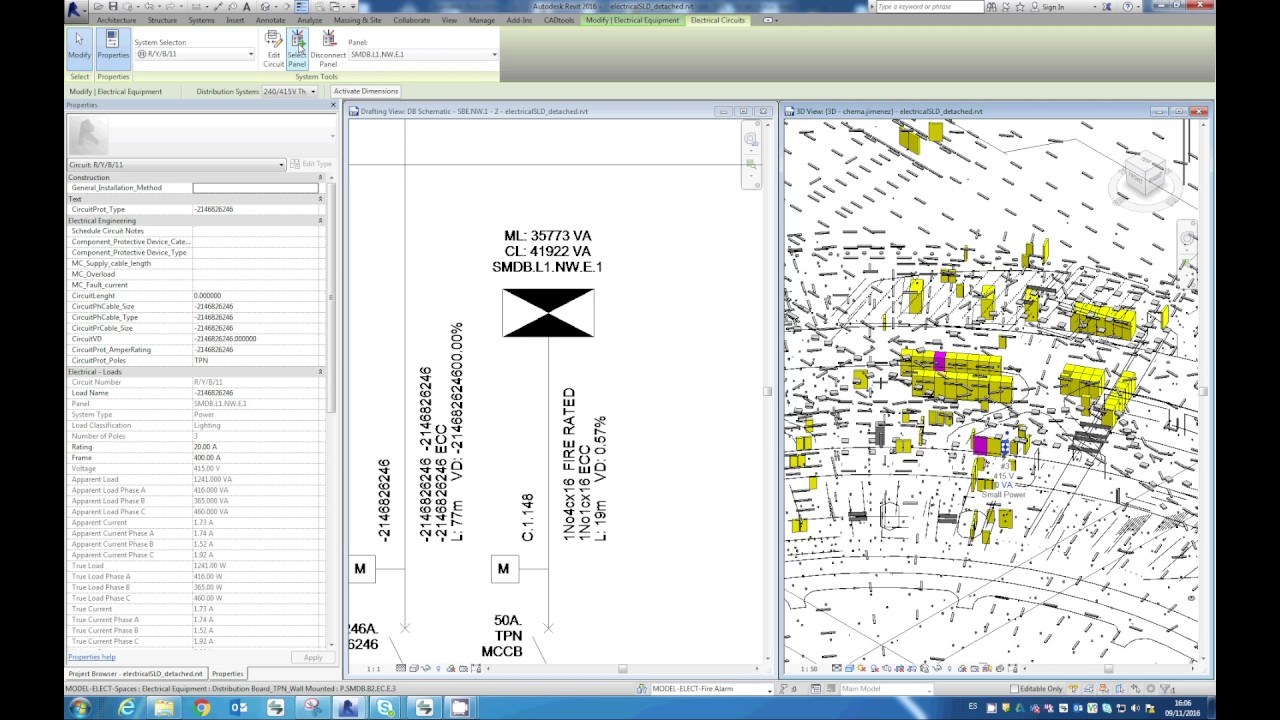 Creating / Updating Electrical Single Line Diagrams From Revit BIM ...