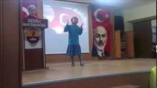 Dereli İstiklal Marşı Okuma Yarışması Birincisi