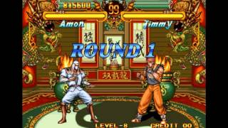Double Dragon Neo Geo Level-8 Amon No Lose Playthrough