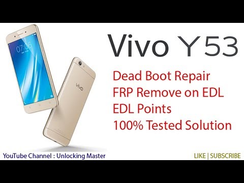 World's First Vivo 1606 Y53 Dead Boot Repair | Vivo Y53 EDL Points