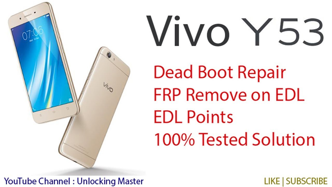 World's First Vivo 1606 Y53 Dead Boot Repair | Vivo Y53 EDL Points | Vivo  1606 Flashing Done 100%