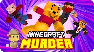 ¿QUIÉN ES EL ASESINO? MURDER | Minecraft con Exo, Macundra, Sarinha y Luh